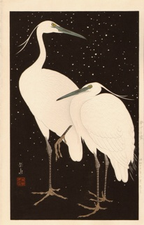 GAKUSUI - Herons in the Snow